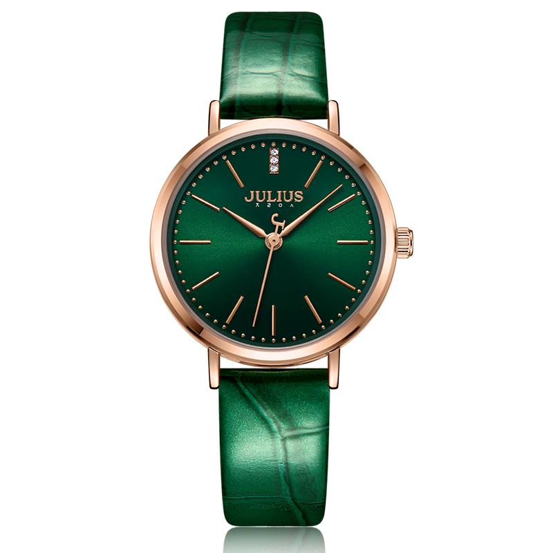 Julis watch Korean version simple temperament womens green dial fashion green anti ink green forest belt