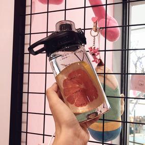 韩版大容量简约清新塑料运动水壶