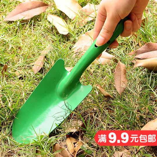 Зеленая цветочная горшка с цветочным горшком с маленькой лопатой с маленькой лопатой Дикая посаженная цветочная многофункциональная небольшая лопата Домашние садовые инструменты