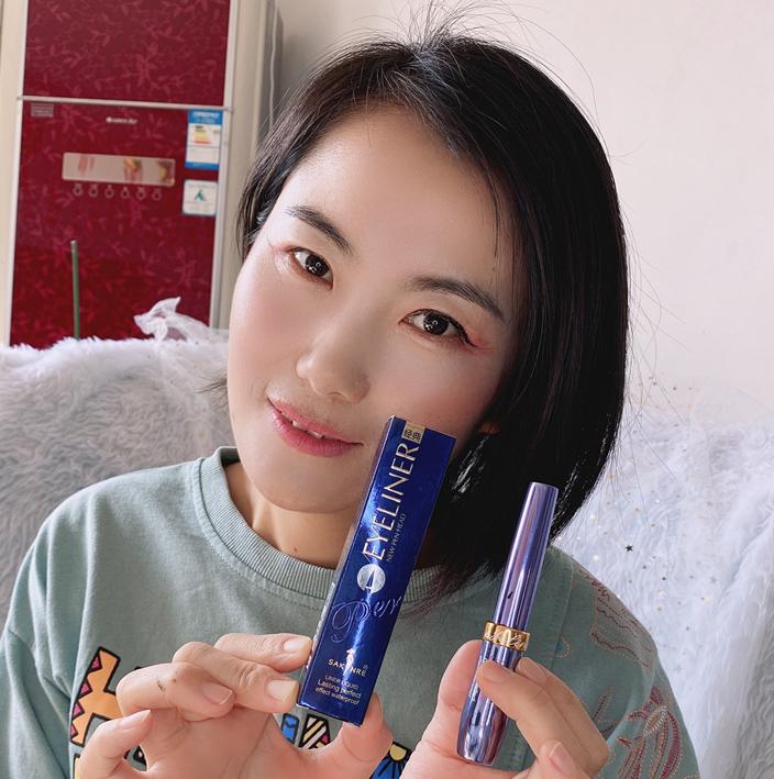 Shah Li small blue bottle Eyeliner 3011 soft head waterproof Sha Chi Eyeliner dont dizzy dyed beginner students fast dry