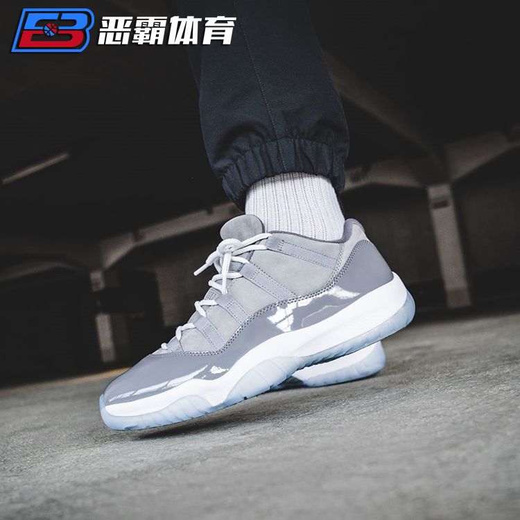 恶霸体育 AIR JORDAN 11 Low Cool Grey 低帮AJ11酷灰 528895-003