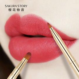 唇刷口红笔刷伸缩便携小化妆刷唇笔唇线笔女化妆师专用唇笔刷迷你图片