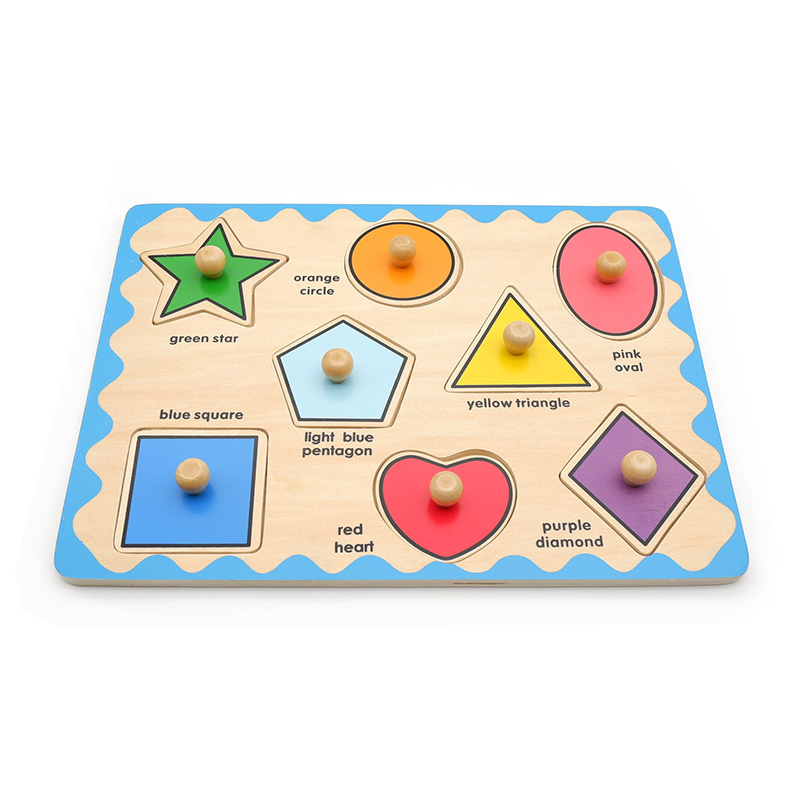 几何图形嵌板形状拼图益智玩具