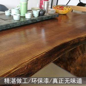 loft实木大板桌原木大班台茶桌时尚主管桌经理桌家具办公桌老板桌