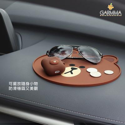 LINE FRIENDS布朗熊汽车导航车载防滑垫仪表台多功能置物垫耐高温