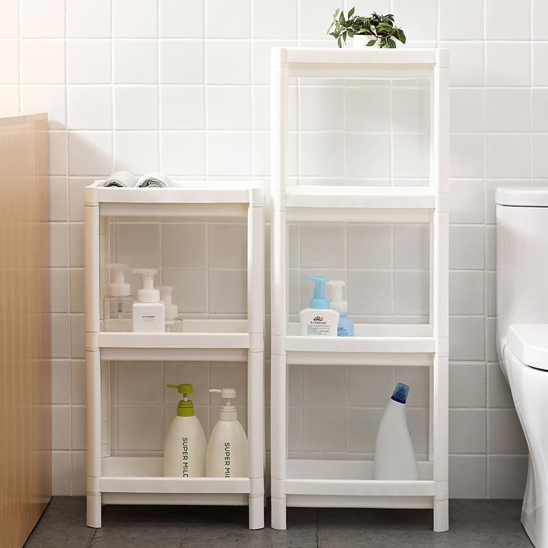 闪闪优品 浴室置物架 免打孔落地厕所洗手间洗漱台卫生间收纳架子