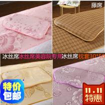 夏季上新美容院用凉席枕套30*50儿童冰丝乳胶枕美容小方枕头包邮