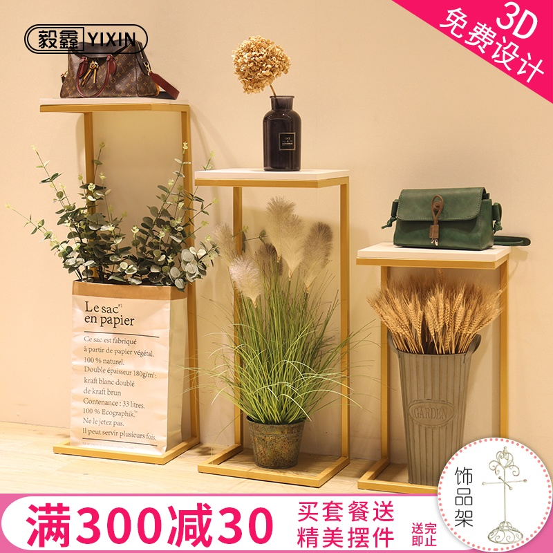 Decorate window display racks display cabinets fruits  table