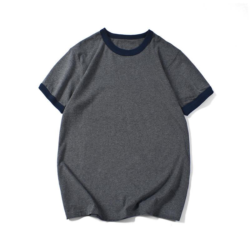 210克重磅纯棉潮牌t恤街头男装春夏空白短袖t恤男文化衫