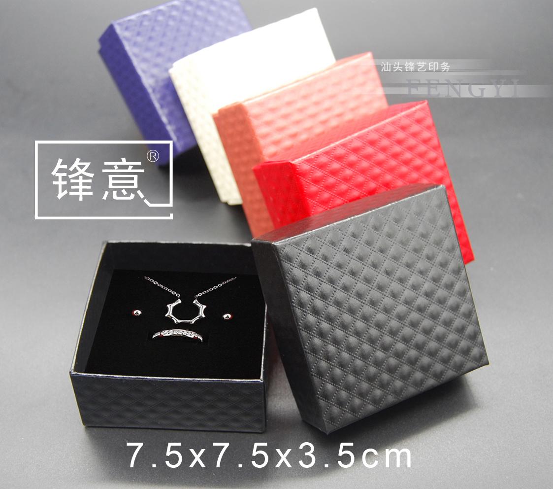 饰品珠宝包装 项链耳钉手镯盒厂家 现货定做 广东满98包邮