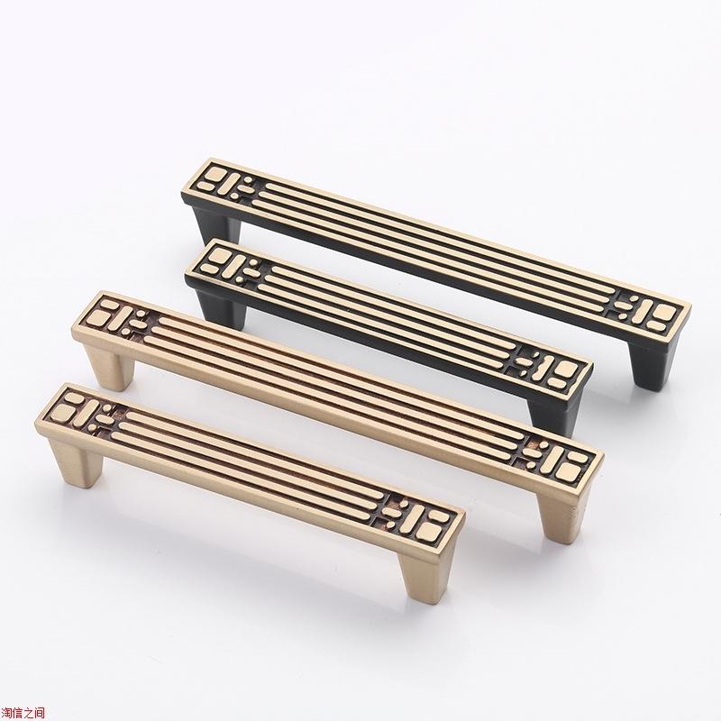 登丰五金中式方形全铜拉手仿古简约家具配件纯铜橱柜把手抽屉拉手