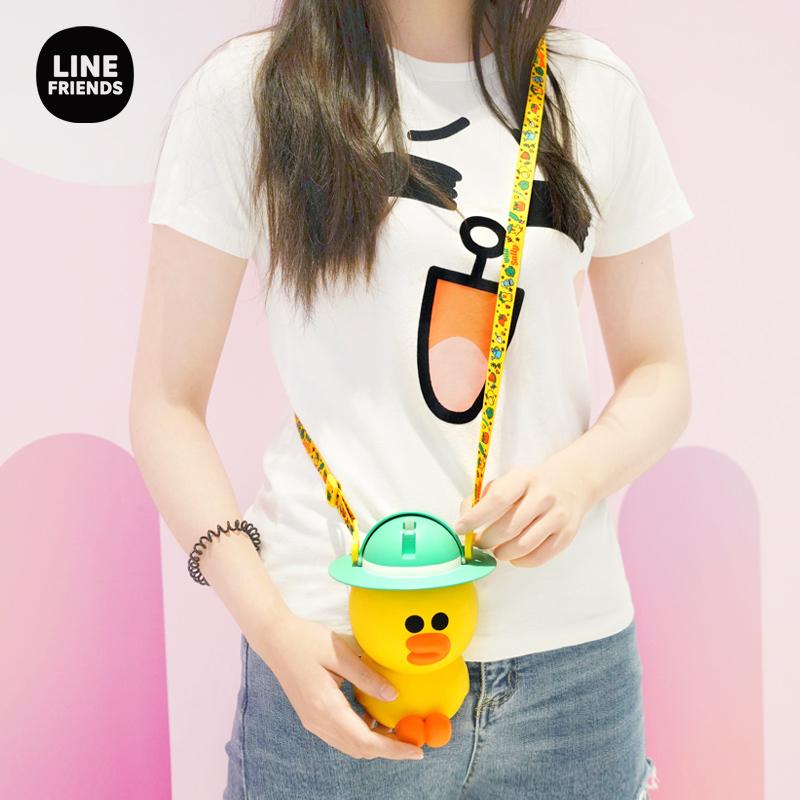 line friends正版布朗熊sally水壶
