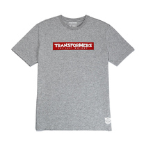 Summer New Genuine Transformers 5 movie peripheral logo round collar cotton t-shirt black grey short sleeve half sleeve