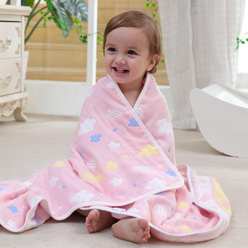 纯棉春夏婴幼儿童空调小被子薄毯子宝宝盖毯新生儿棉纱浴巾1
