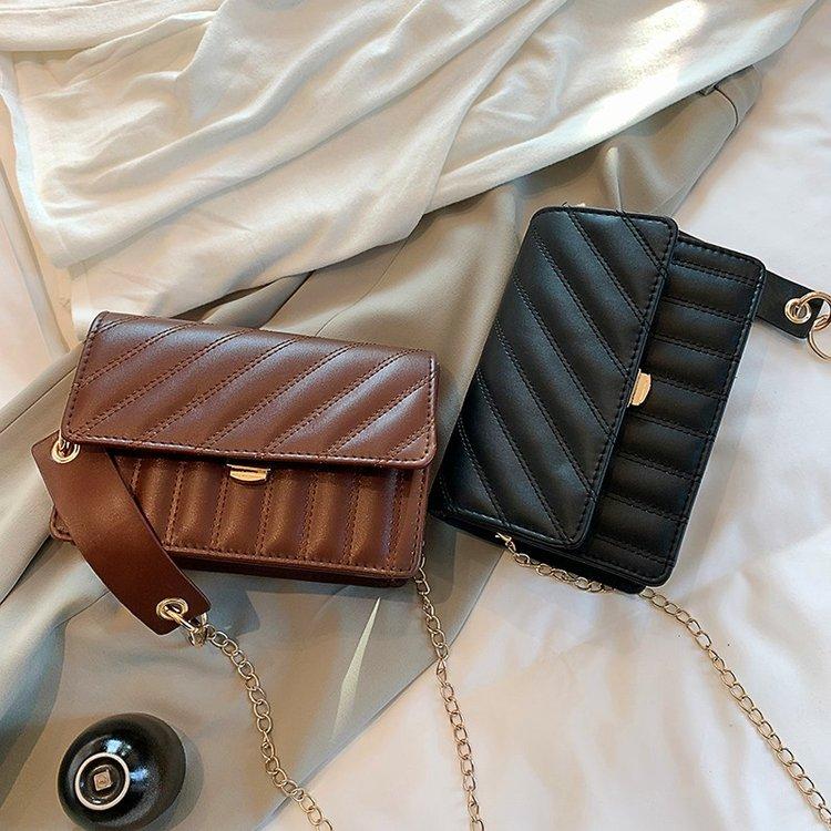 实拍实价~8009#女士包袋单肩包PU小方包拉链时尚潮流纯色单肩