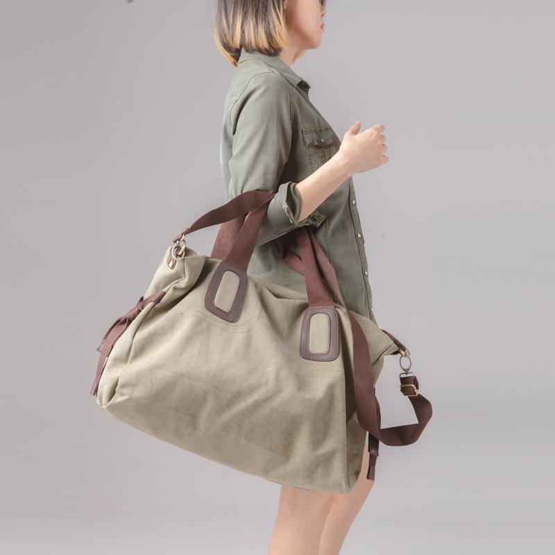 纯棉帆布大包 男包女单肩手提旅行包 两用大容量旅游包袋学生书包热销221件假一赔十