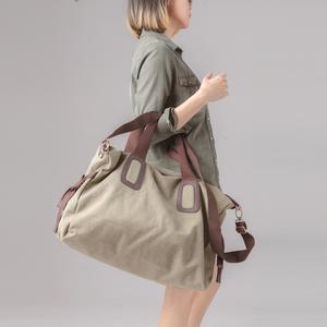纯棉帆布大包 男包女单肩手提旅行包 两用大容量旅游包袋学生书包