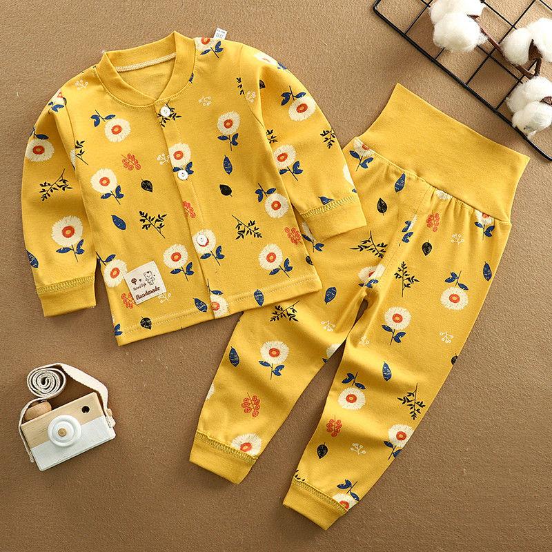 (买两套送袜子)纯棉儿童内衣套装童装男女童秋衣秋裤睡衣家居服