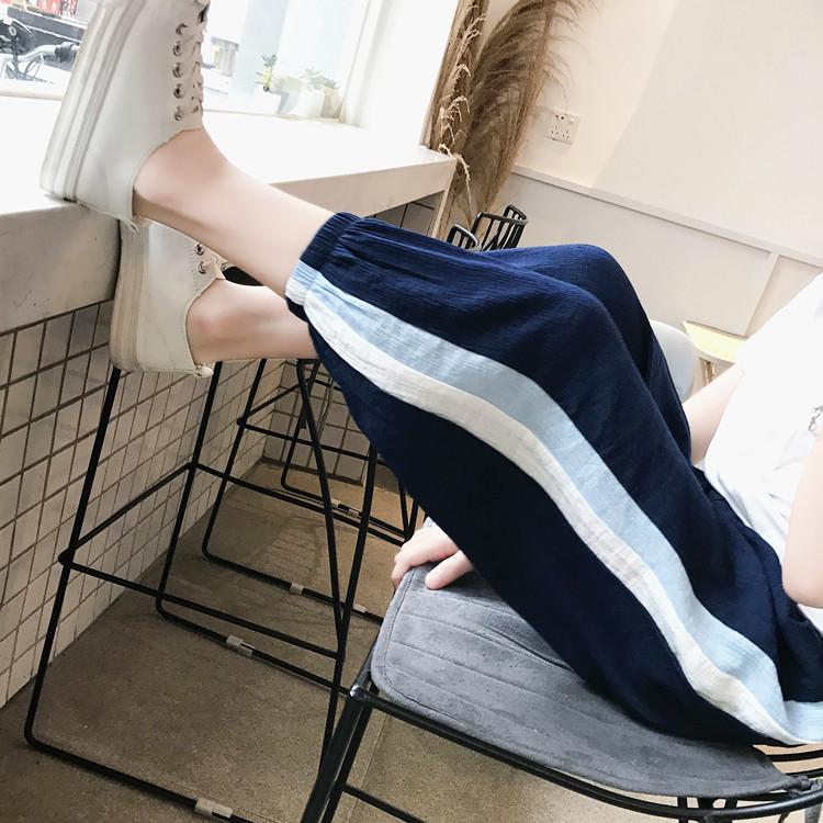 На девочку спортивный длина брюк Брюки лето и осень 2018 новая коллекция детские Чжундатонг свободное осеннее платье свет Брюки-штаны