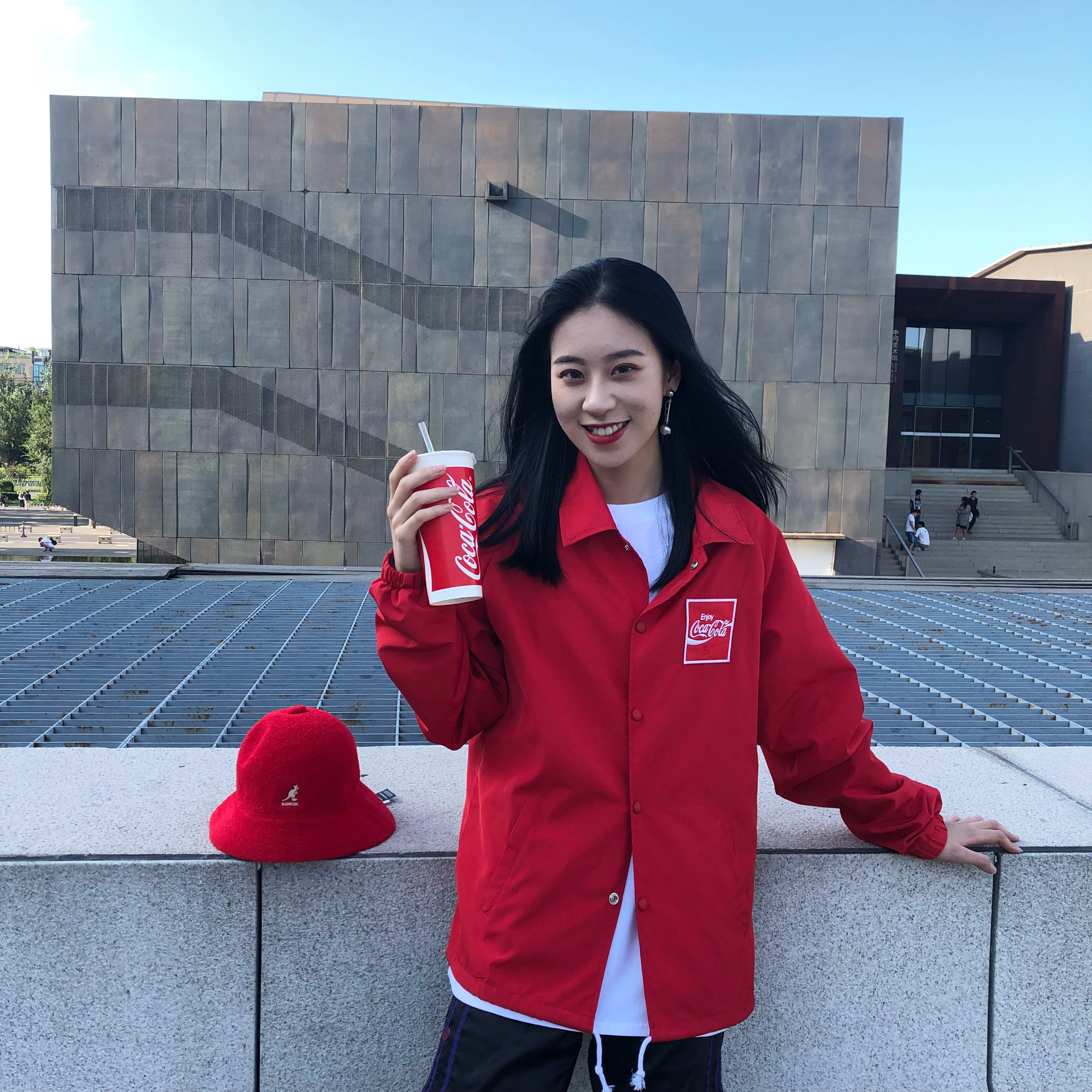 Altay Kaqi Coca Cola coach jacket mens letter spring and autumn sports couple jacket
