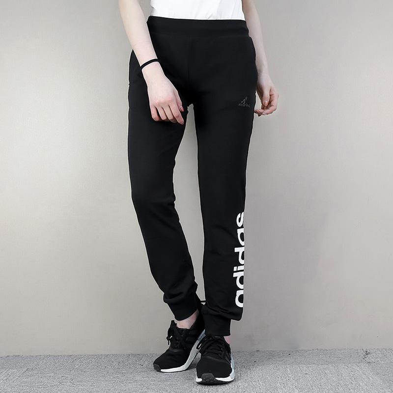 阿迪达斯裤子女运动裤 休闲针织小脚束腿裤保暖修身长裤-CF3847