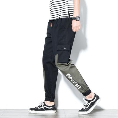 日系工装裤男宽松束脚裤多口袋休闲男士哈伦长裤子K906 -P35