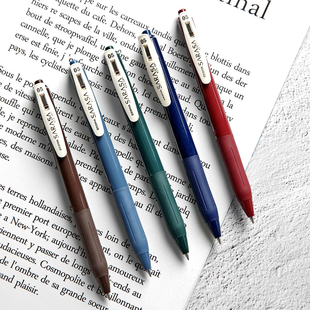 杂啊 日本ZEBRA斑马JJ15复古色SARASA按动中性笔 彩色学生0.5水笔限时2件3折