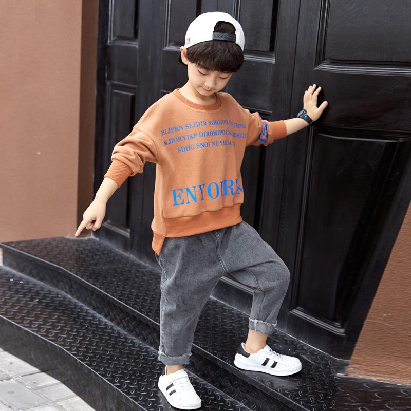 热销434件正品保证童装男童秋装套装2019新款中大儿童