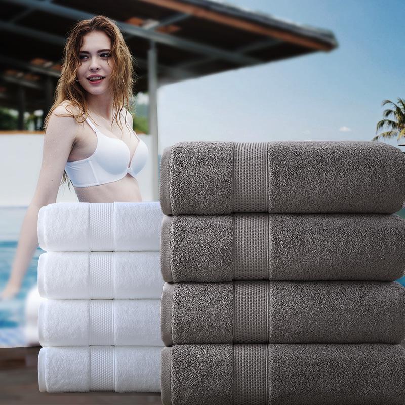 雪仑尔 酒店大浴巾纯棉成人加大加厚吸水柔软美容院毛巾浴巾家用