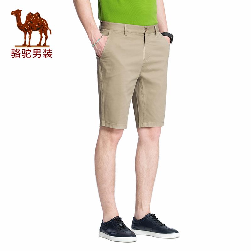骆驼男装 夏季休闲短裤男青年时尚运动五分裤直筒宽松沙滩裤