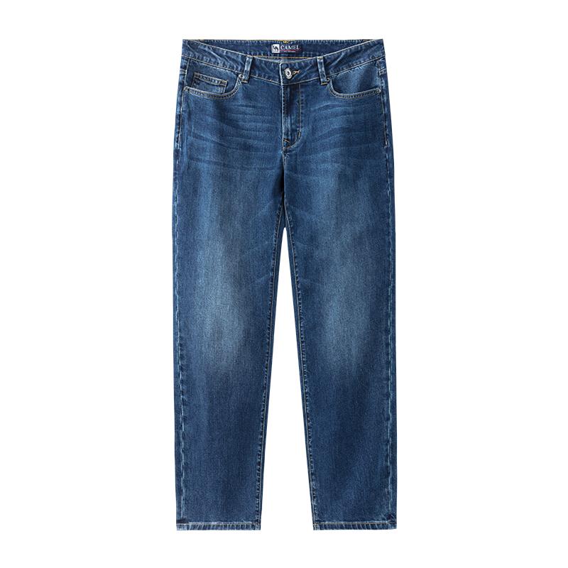 【骆驼】秋冬新款男士直筒牛仔裤