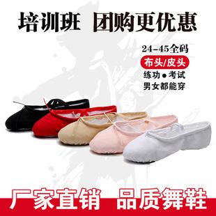 包邮批舞蹈鞋女软底发练功鞋男成人幼儿童跳舞猫爪鞋形体瑜伽芭蕾图片
