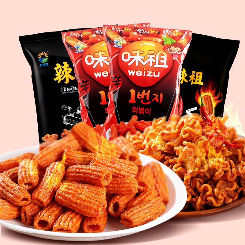韩国进口零食九日炒年糕条膨化打糕