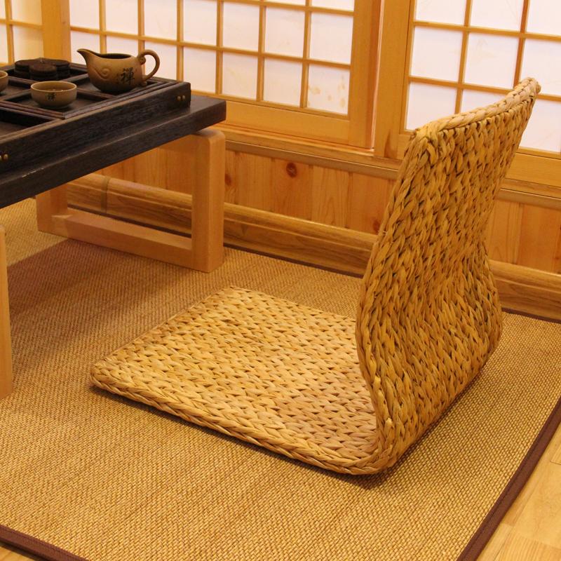Бесплатная доставка солома нет нога стул японский кровать компьютер стул один татами нет нога спинка стула эркер сиденье