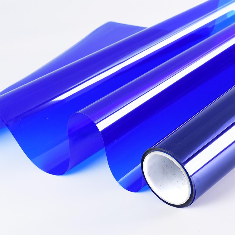 彩色玻璃贴膜装饰窗纸 阳台移门遮光防晒膜 窗户贴纸透光透明蓝色