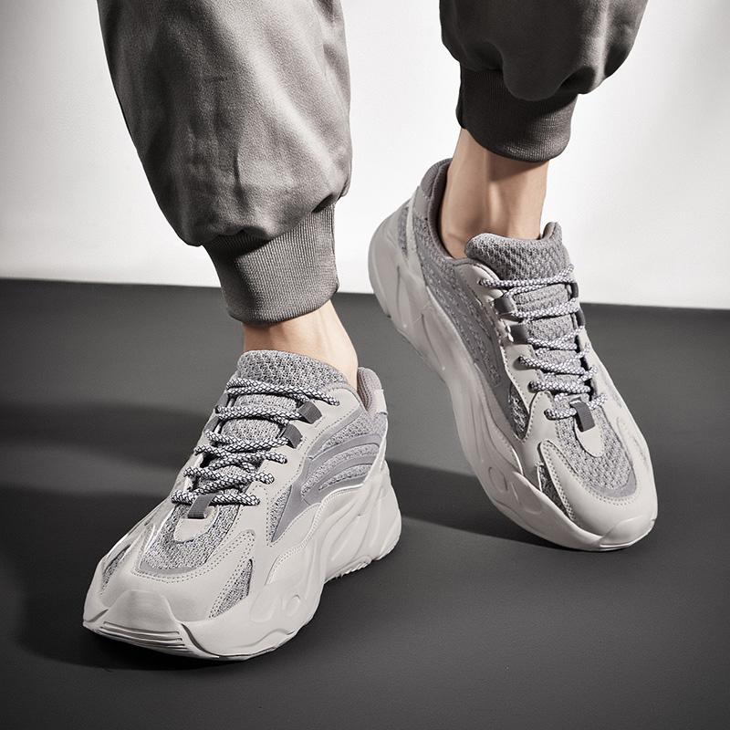 老爹鞋男士春季ins潮鞋反光学生运动鞋厚底增高椰子百搭700男鞋子