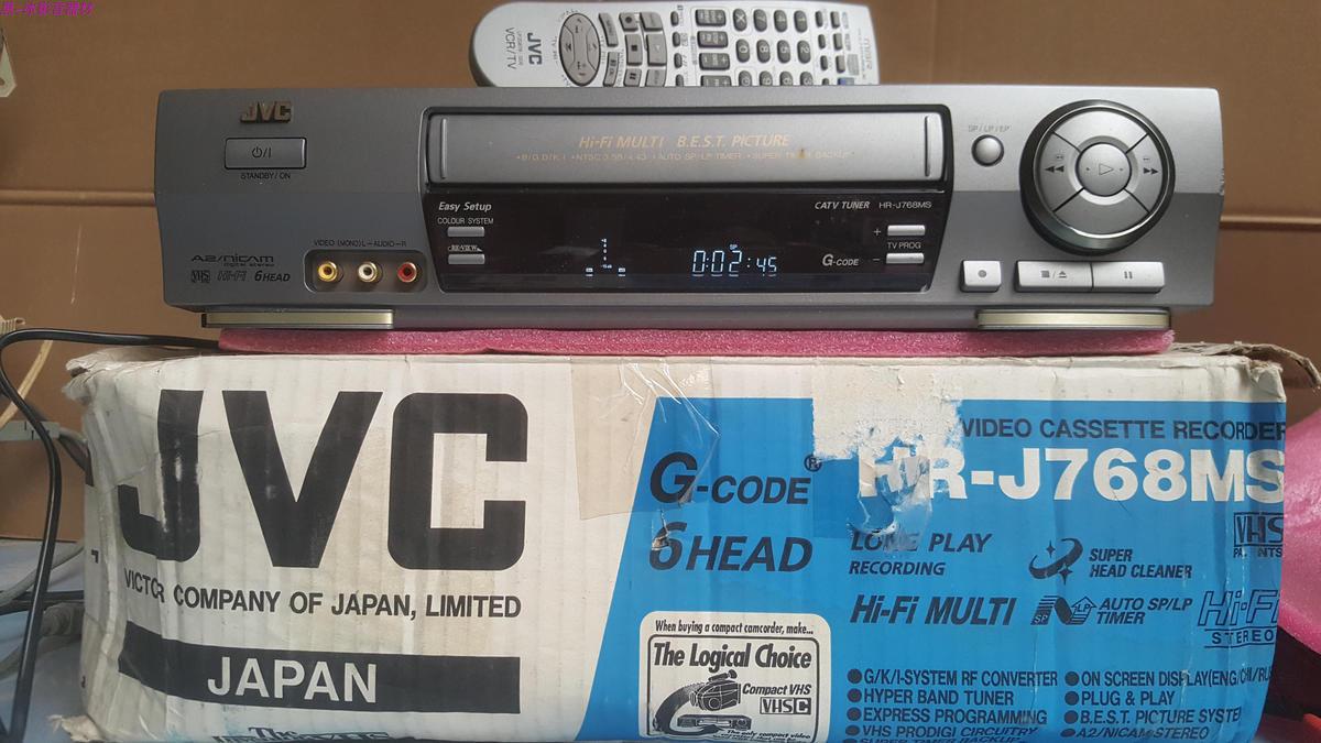 JVC杰伟世HR-J768MS 六磁头录像机 录影机盒式磁带录像机