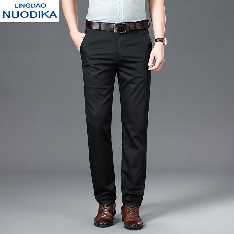 Leading Nordic 2020 casual pants mens straight tube middle-aged dad business wide Songxi pants summer thin
