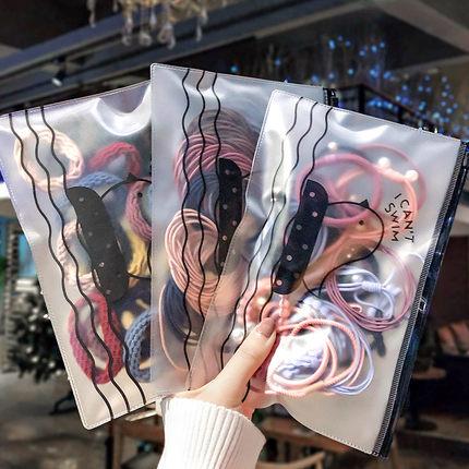 韩版网红发圈可爱头绳女扎头发橡皮筋发卡饰品简约小发绳发饰儿童