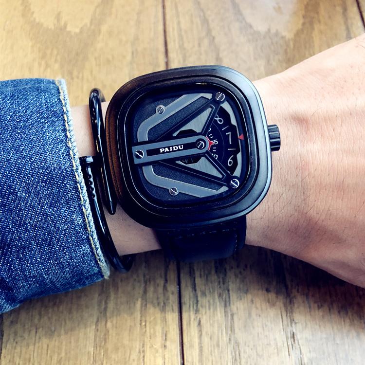 网红同款简约创意概念韩版时尚潮流运动学生防水情侣男女石英手表