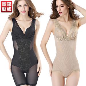 无痕后脱塑身衣连体收腹束腰塑形燃脂美体瘦身衣超薄款束身内衣女