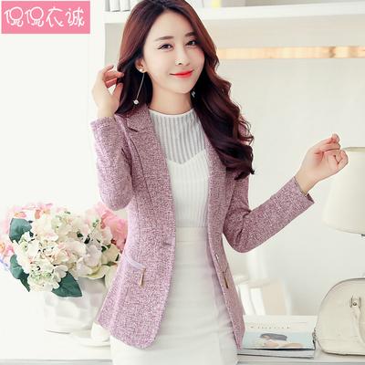 2021秋装新款小西装外套大码女装韩版修身长袖西服短款上衣休闲潮