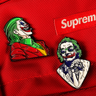 TMINC原创 DC小丑胸针扣joker胸章 小丑希斯莱杰徽章 ins高档别针