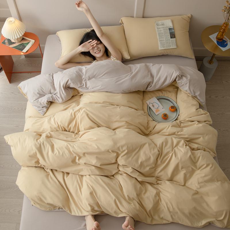 超柔软糯裸睡针织棉四件套纯棉床笠质量怎么样