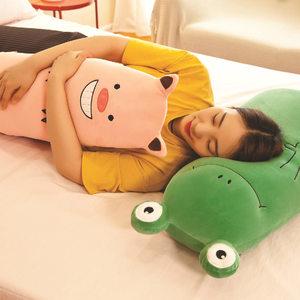 床上家居午睡枕2019年新款糖果系列動物抱枕青蛙老鼠貓咪