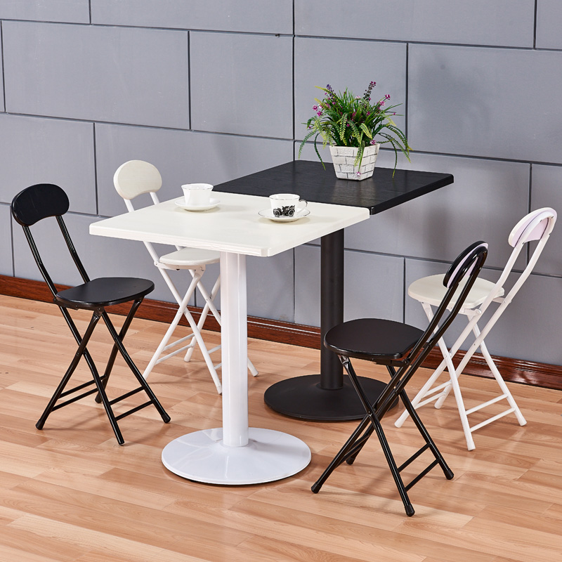洽谈桌圆桌餐桌椅组合现代简约饭桌欧式北欧小户型奶茶店吃饭桌子