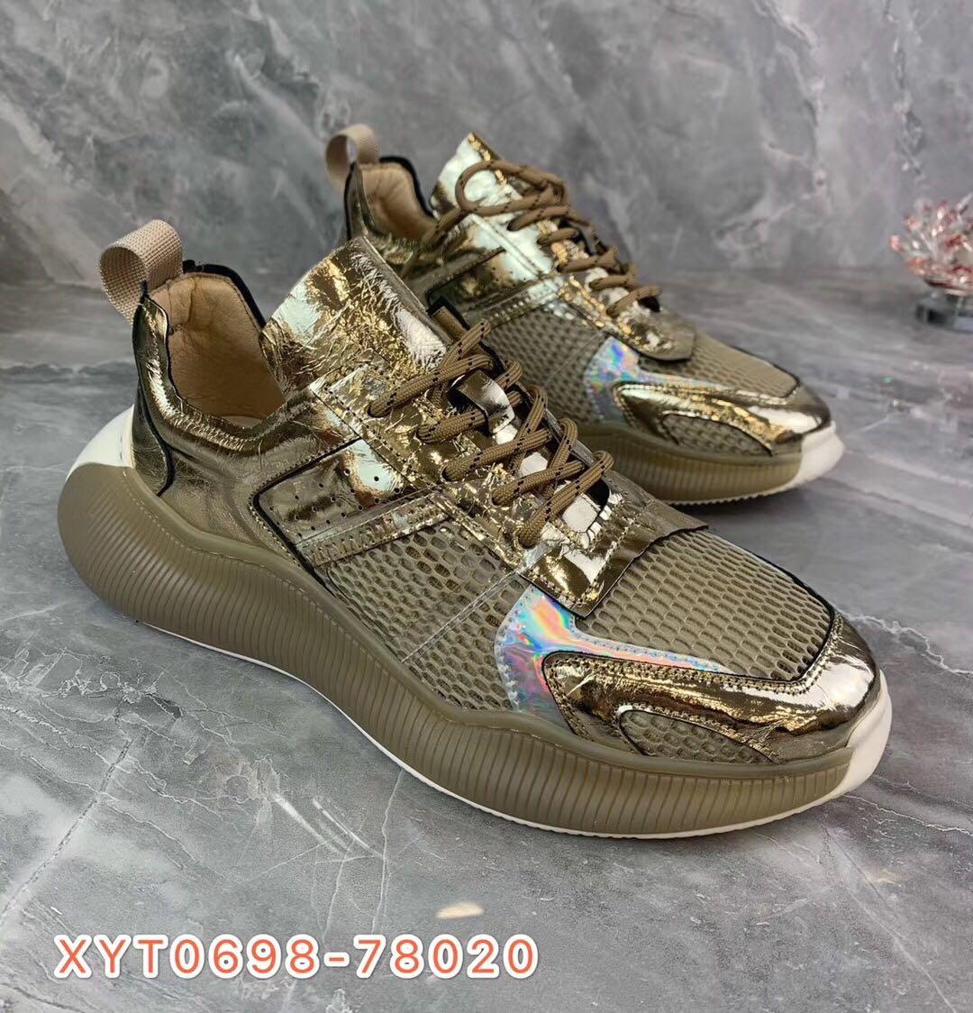 【西亚图】20年新款真皮鞋休闲鞋老爹鞋网鞋吸膜底运动鞋