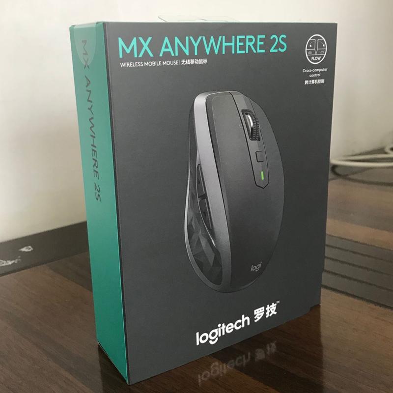 国行未开封 罗技MX Anywhere2S无线蓝牙优联双模商务办公鼠标充电