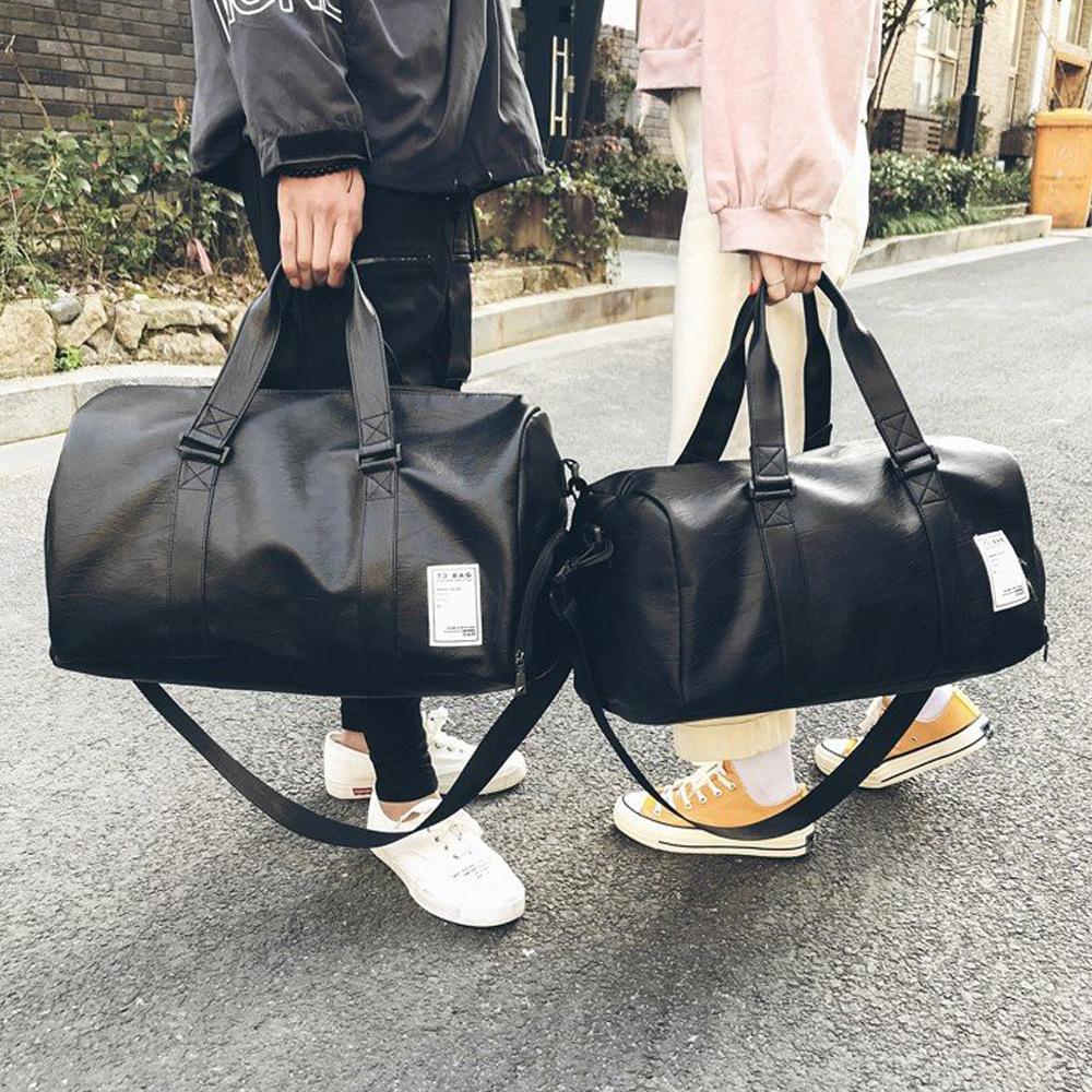 航空手提包pu皮登机袋大容量单肩斜跨旅行男女出差行李包2020新款 Изображение 1