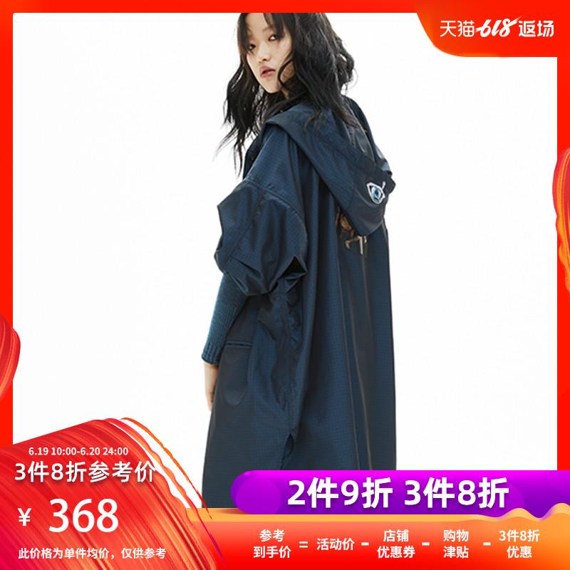 设计师春夏款 女轻薄多口袋连帽长风衣外套BABYGHOST-B17SS0601